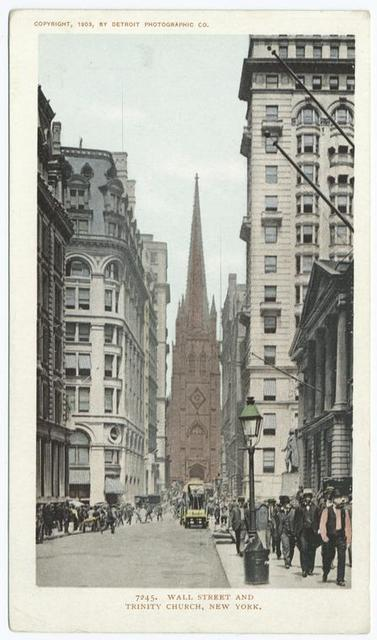 Wall Street and Trinity Church, New York, N. Y.