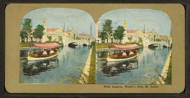West Lagoon, World's Fair, St. Louis.