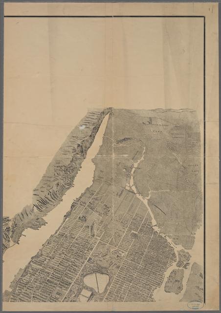 [Bird's eye view of New York City.]