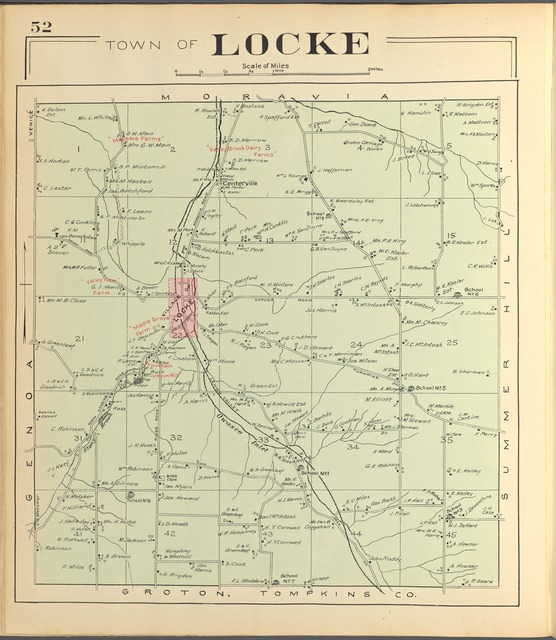 Cayuga County, Left Page [Map of town of Locke]