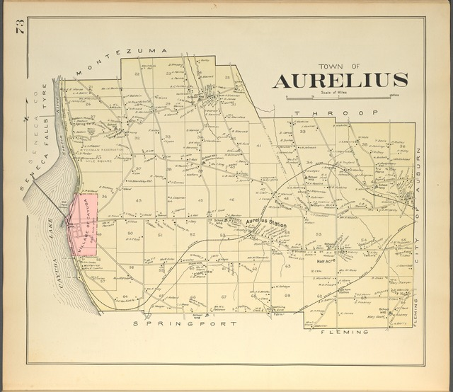 Cayuga County, Right Page [Map of town of Aurelius]