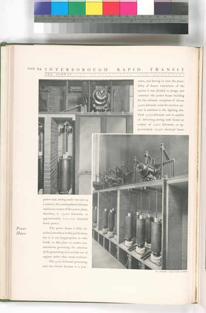 Oil switches - main power station.