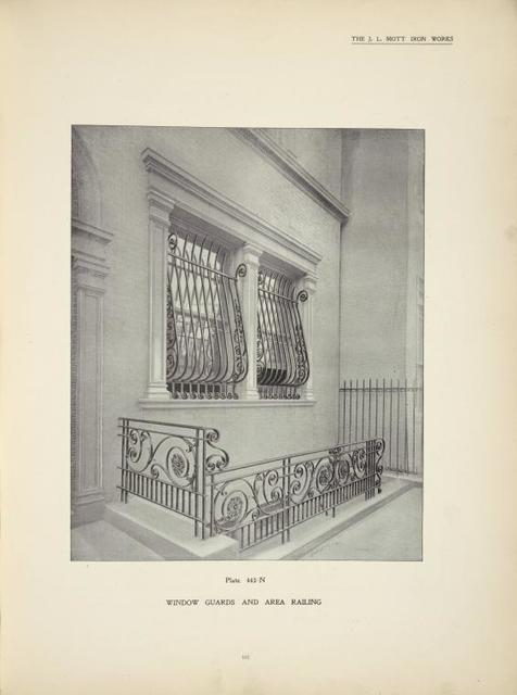 Window guards and railing. Plate 443-N.