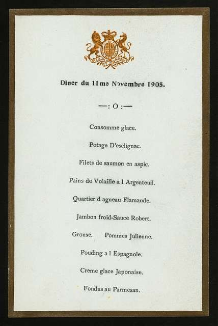 """DINNER IN HONOR OF ABOVE [held by] PRINCE AND PRINCESS OF WALES [at] """"GOVERNMENT  HOUSE, MALABAR POINT, BOMBAY, INDIA"""" (FOR;)"""