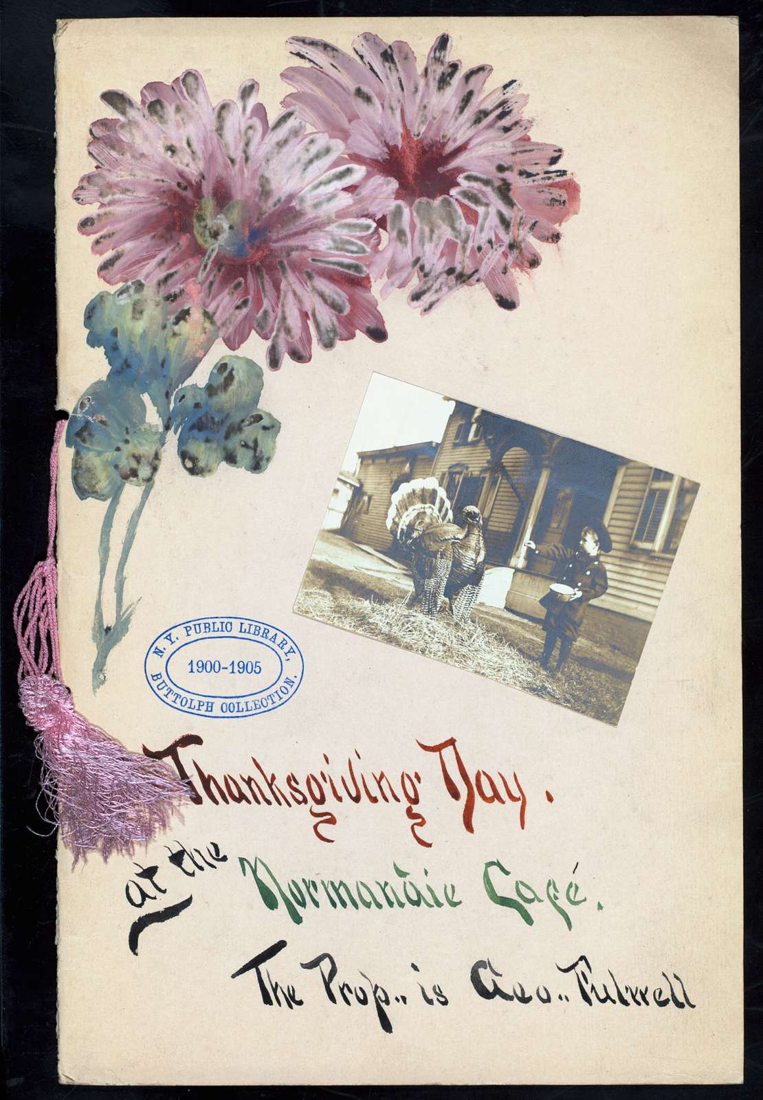 "THANKSGIVING MENU [held by] NORMANDIE CAFE [at] ""(DETROIT, MI?)"" (REST;)"