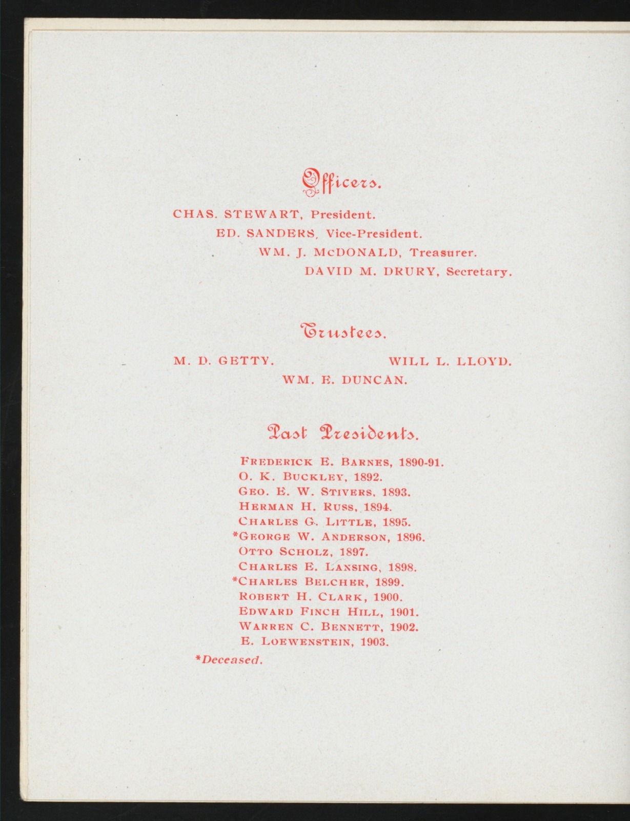 "50TH ANNUAL BANQUET [held by] FRATERNAL UNION OF ANNIONTED HIGH PRIESTS OF NEW YORK STATE [at] ""VENDOME HOTEL, NY"" (HOTEL;)"
