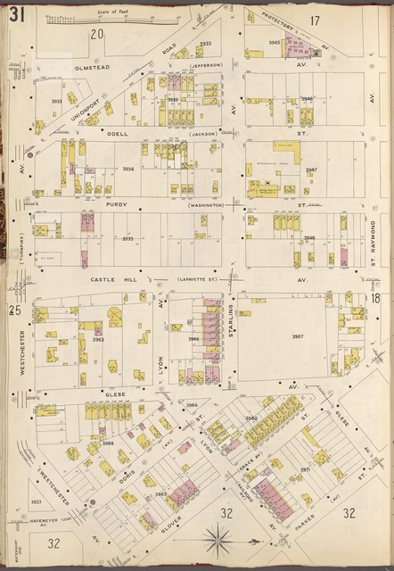 Bronx, V. A, Plate No. 31 [Map bounded by Protectory Ave., Raymond Ave., Parker St., Westchester Ave.]