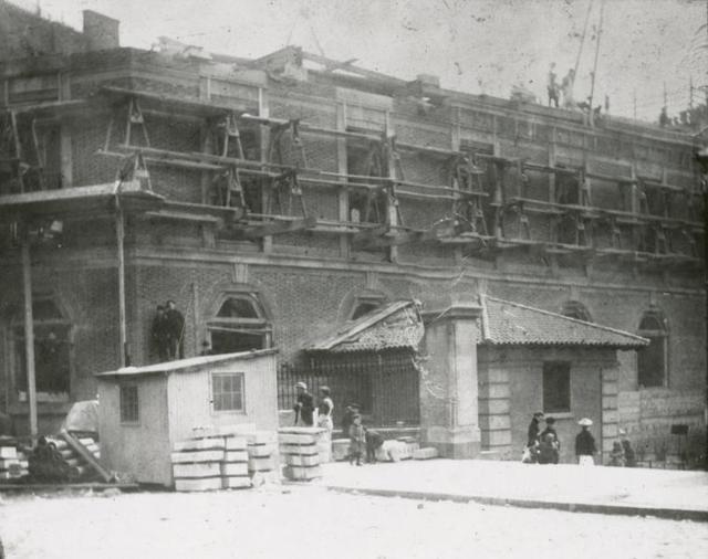 [Hudson Park, Exterior, construction.]