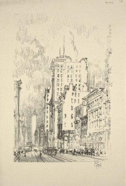 Lithographs of New York in 1904. Broadway above 23rd Street