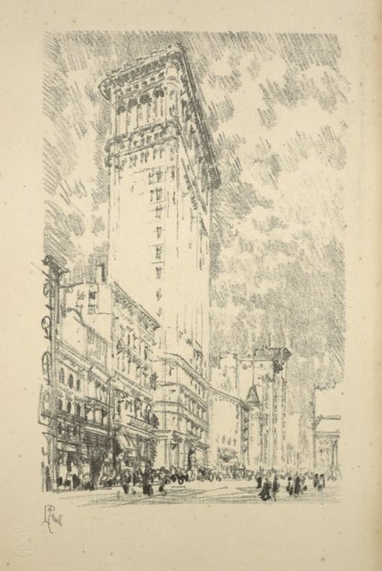 """Lithographs of New York in 1904, """"The Flat Iron"""""""