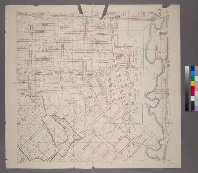 Sheet 1:  Grid #6000E - 12000E, #15000N - 19000N. [Includes Bronx River, Monticello Avenue, from Seton Avenue to E. 243rd Street and the Northern boundary of the City of New York.]