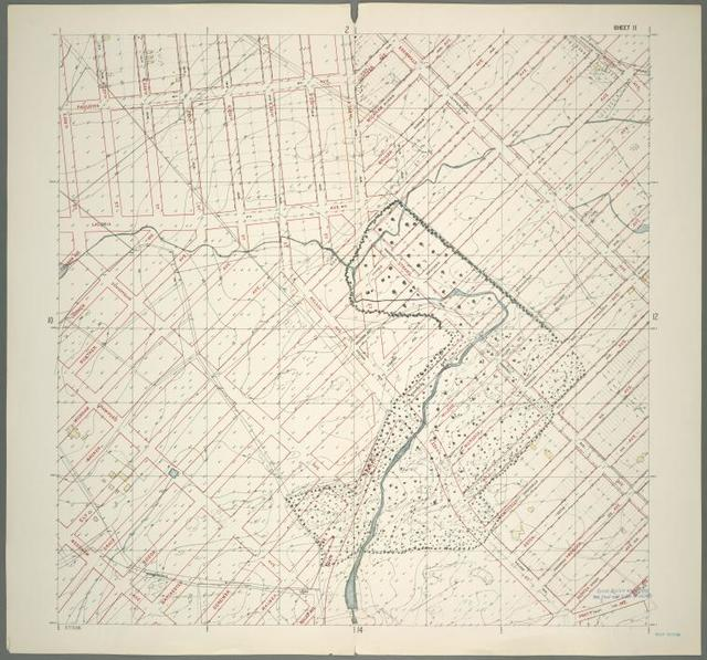 Sheet 11: Grid #12000E - 16000E, #11000N - 15000N. [Includes Murdock Avenue, Wilder Avenue, Rattlesnake Creek, Gunther Avenue, Wickham Avenue, Bruner Avenue,Ely Avenue, Edgewald (Wakefield), Edenwald Avenue, (Seton Falls Park upto Wilder Avenue) and (New York City Subway shops and Yards).]