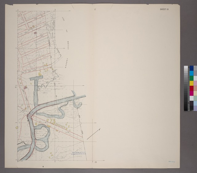 Sheet 13: Grid #16000E - 20000E, #15000N - 17000N. [Includes Boston Post Road, Fishers Landing Road, Kings Bridge Road, Hutchinson River, Part of the City of Mount Vernon and the Northern boundary of the City of New York.]