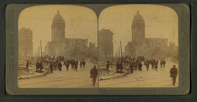 After the greatest of modern catastrophes , Market St. N.E., past the Call building, San Francisco, Cal.