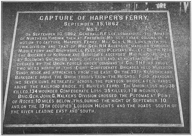 Capture of Harper's Ferry, September 15, 1862; No. 1.