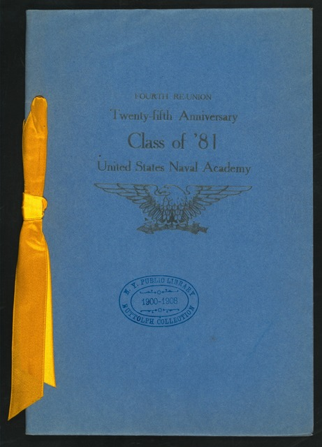 "25TH ANNIVERSAY [held by] US NAVAL ACADEMY - CLASS 0F '81 [at] ""ARLINGTON,THE,WASHINGTON, D.C."" (HOTEL;)"