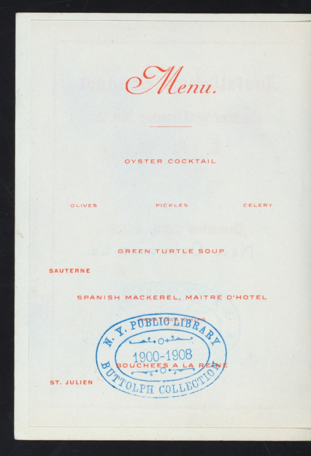"""INSTALLATION BANQUET [held by] CONCORDE CHAPTER NO.2 R.A.M. [at] """"NEW HICKORY RESTAURANT, NEW ORLEANS, LA"""" (REST;)"""