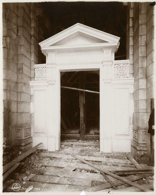 Plaster model of Fifth Avenue entrance door.