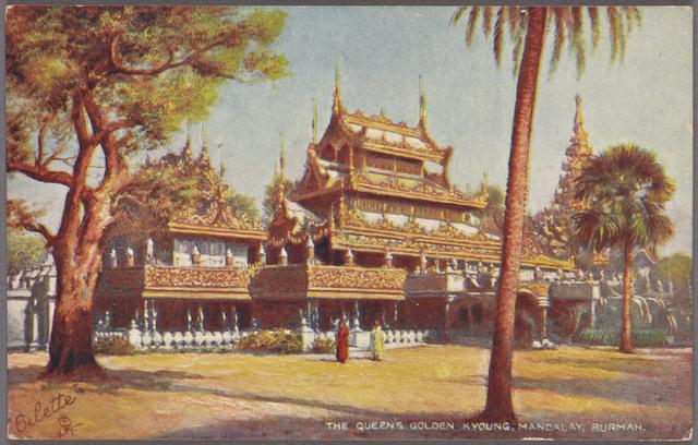 The Queen's golden kyoung, Mandalay, Burmah.