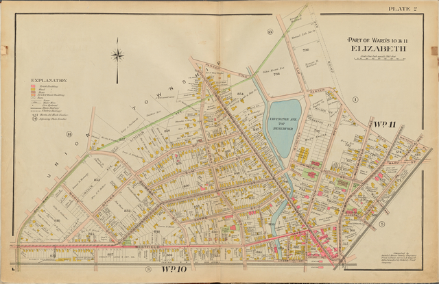 Union County, Double Page Plate No. 2 [Map bounded by Parker Rd., Union Ave., Whitehead Pl., Westfield Ave., Bay Way Ave.]
