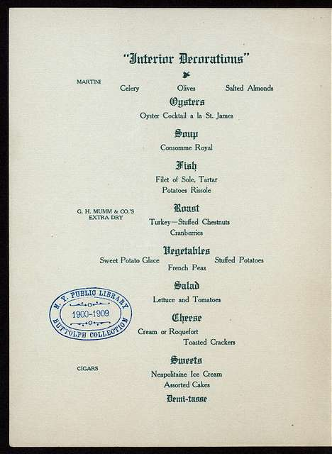 """FIRST ANNUAL BANQUET [held by] THE UPHOLSTERY AND ALLIED TRADES [at] """"THE ST. JAMES HOTEL, PHILADELPHIA, PA"""" (HOTEL;)"""