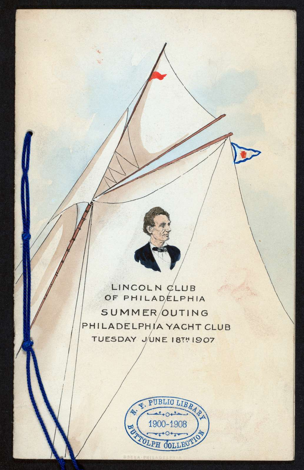 """SUMMER OUTING [held by] LINCOLN CLUB OF PHILADELPHIA [at] """"PHILADELPHIA YACHT CLUB, [PHILADELPHIA, PA]"""" (OTHER (PRIVATE CLUB);)"""