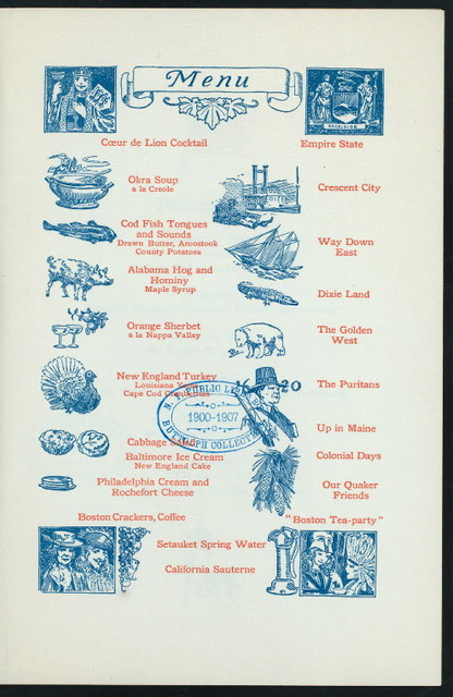 """ALL AMERICAN BANQUET IN HONOR OF EDWIN C. HALL [held by] COEUR DE LION CAMMANDERY NUMBER TWENTY-THREE KNIGHTS TEMPLAR [at] """"NEW YORK, NY"""""""