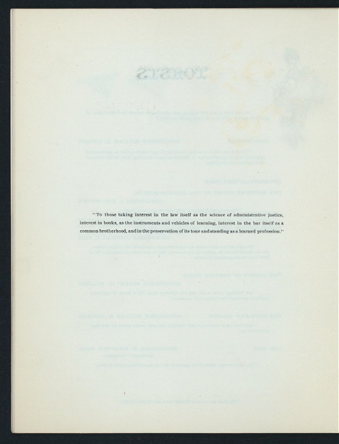 "BANQUET AND RECEPTION COMMEMORATING 50 YEARS SINCE THE ADMISSION OF HONORABLE JAMES TYNDALE MITCHELL,LL.D. CHIEF JUSTICE OF THE SUPREME COURT OF PA TO THE BAR OF PHILADELPHIA [held by] THE PENNSYLVANIA BAR ASSOCIATION ON BEHALF OF THE BAR OF THE COMMONWEALTH [at] ""HORTICULTURAL HALL, PHILADELPHIA, PA"" (OTHER;)"