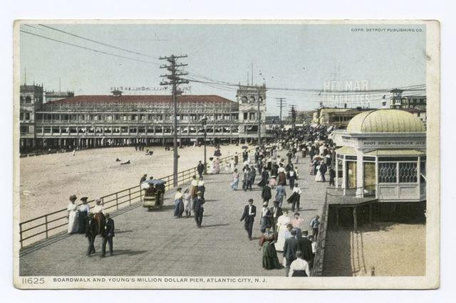 Boardwalk, Young's $1,000,000 Pier, Atlantic City, N.J.