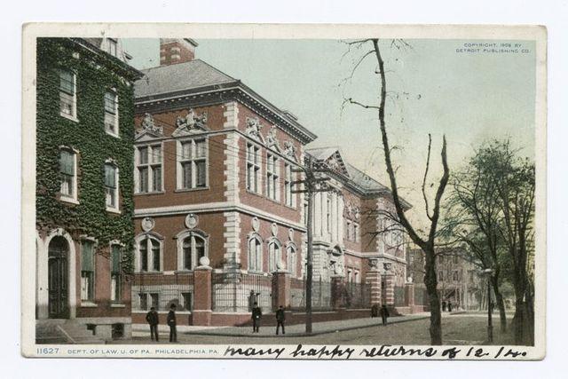 Department of Law, University of Pennsylvania, Philadelphia, Pa.