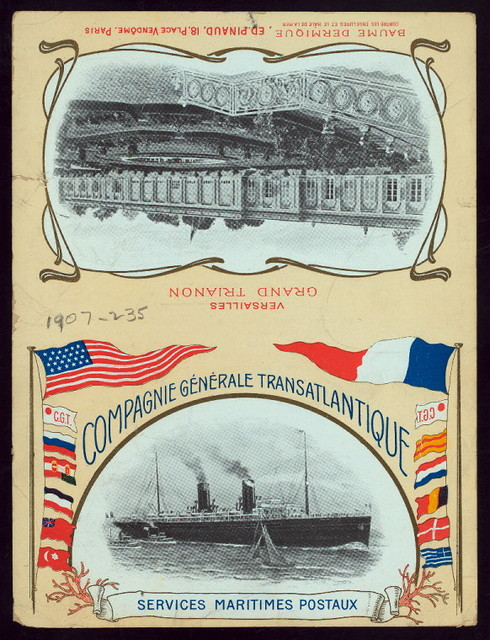 DINNER [held by] COMPAGNIE GENERAL TRANSATLANTIQUE [at] ABOARD PAQUEBOT LA GASCOGNE (SS;)