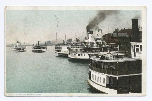 Excursion Steamers, Detroit, Mich.