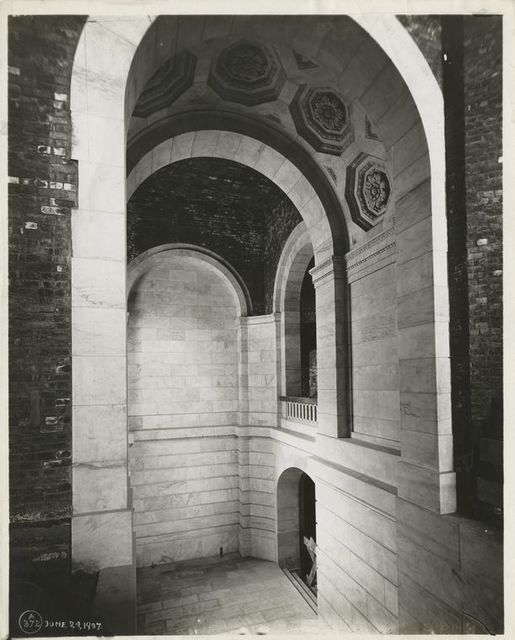 Interior work : stairway leading down from the McGraw Rounda.