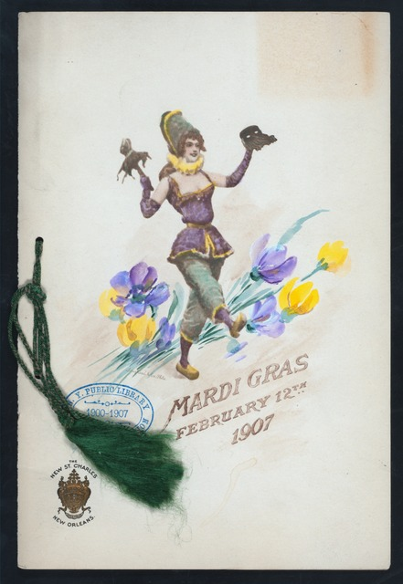 """MARDI GRAS [held by] THE NEW ST. CHARLES [at] """"NEW ORLEANS, LA"""" (HOTEL;)"""