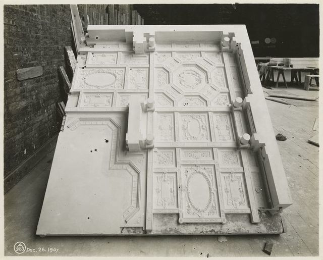 [Plaster model of a ceiling.]