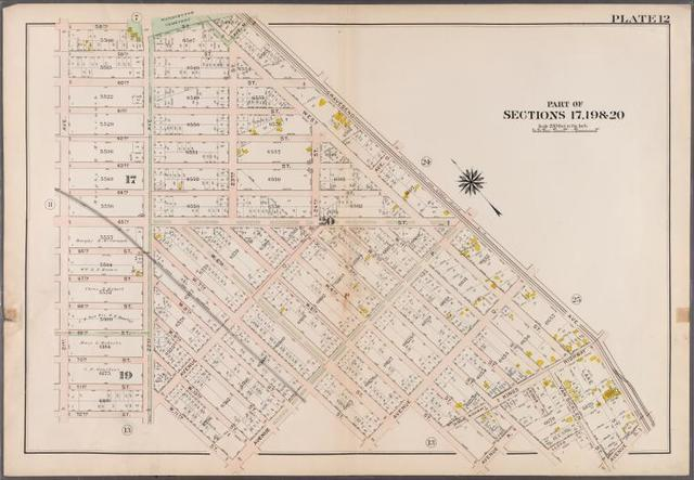 Plate 12: [Bounded by 58th Street, West Street, Avenue M., Gravesend Avenue, Avenue S., Van Sicklen Street, Lloyd Court, W. 3rd Street, Avenue R., W. 5th Street, Avenue Q, W. 7th Street, Avenue P, W. 11th Street, 22nd Ave., 72nd Street and 21st Avenue]