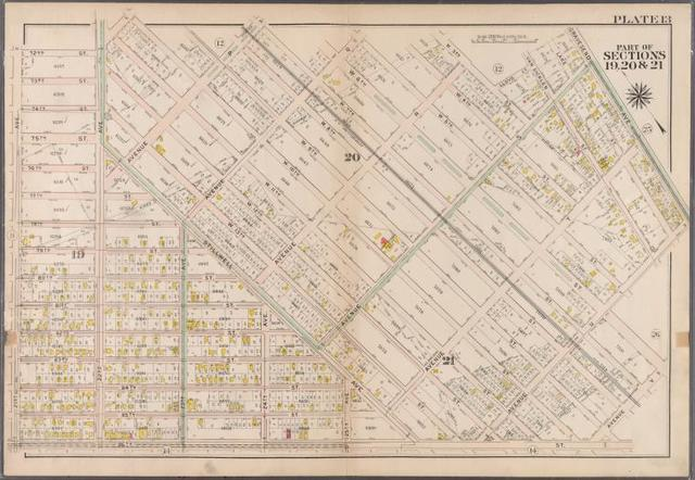 Plate 13: [Bounded by 72nd Street, 22nd Avenue, W. 11th Street, Avenue P, W. 7th Street, Avenue Q, W. 5th Street, Avenue R, W. 3rd St., Lloyd Court, Van Sicklen Street, Avenue D, Gravesend Avenue, Avenue U, W. 6th Street, Avenue V, 86th Street and 21st Avenue]