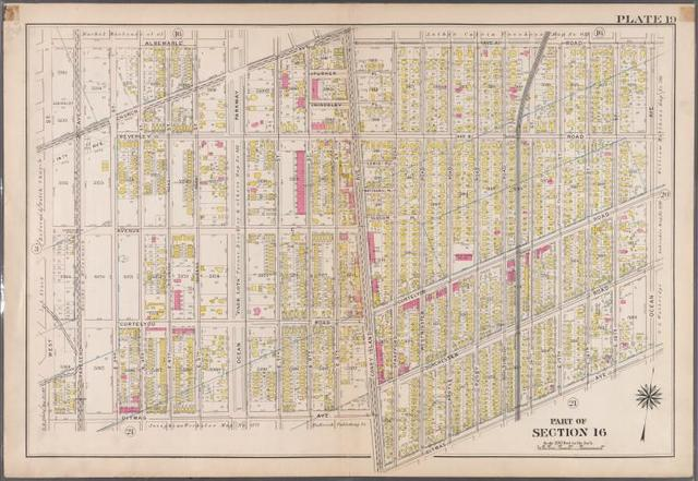 Plate 19: [Bounded by Albemarle Avenue, Ocean Parkway, Church Avenue, Coney Island Avenue, Avenue A., Ocean Avenue, Ditmas Avenue, Coney Island Avenue, Ditmas Avenue and West Street.]