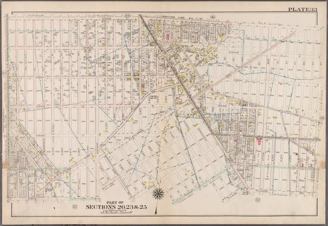 Plate 33: [Bounded by Avenue J., E. 56th Street, Fillmore Avenue, Kimball Street, Avenue R., E. 35th Street, Avenue Q., E. 31st Street, Avenue P. and Ocean Avenue.]