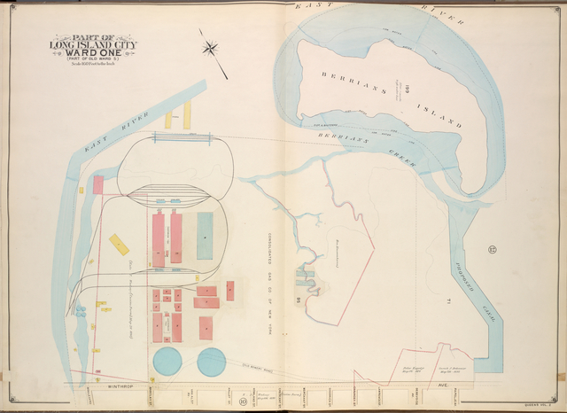 Queens, Vol. 2, Double Page No. 11; Part of Long Island City Ward One (Part of Old Ward 5); [Map bounded by Winthrop Ave., Van Alst Ave., Debevoise Ave., Rapelje Ave.; Including Boulevard, Barclay St., Hallet St., Howland St., Crescent St., Merchant St., Goodrich St., Chauncey St., Lawrence St.]