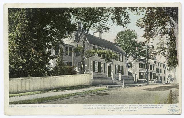 Rev. Samuel Langdon House, Portsmouth, N.H.