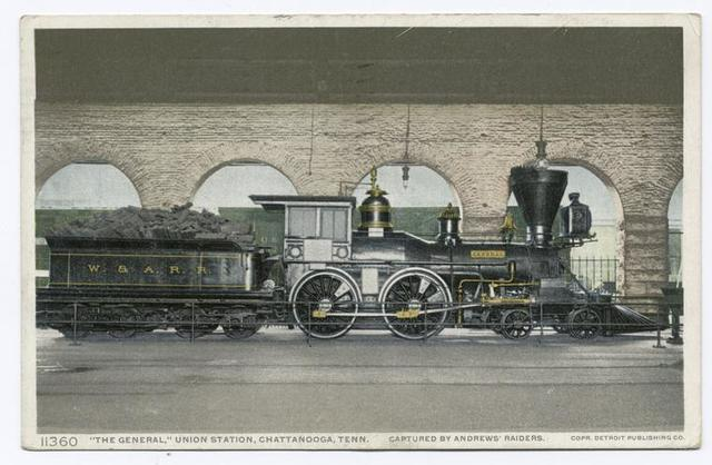 """The """"General"""" in the Union Station, Chattanooga, Tenn."""