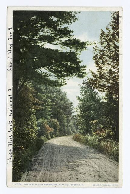 The Road to Lake Wentworth, Wolfeboro, N.H.
