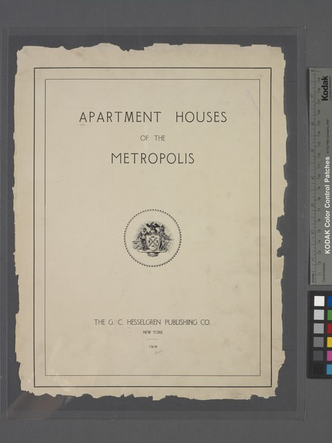 Apartment houses of the metropolis. (Title page)