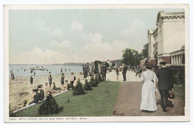 Bath House, Belle Isle Park, Detroit, Mich.