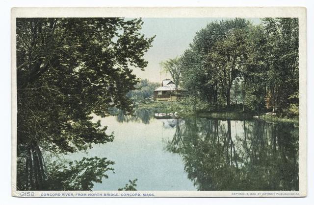 Concord River from North Bridge, Concord, Mass.
