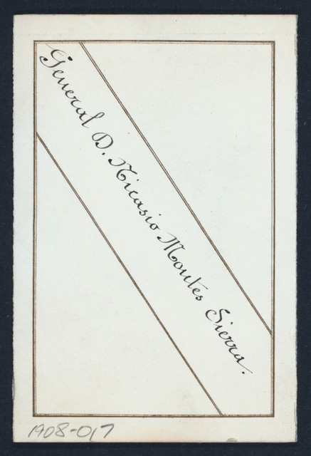 DINNER [held by] GENERAL D. NICASIO MOUTES SIERRA [at]  (FOR;)