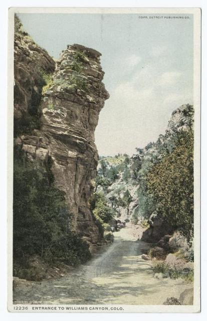 Entrance to Williams Canyon, Colorado