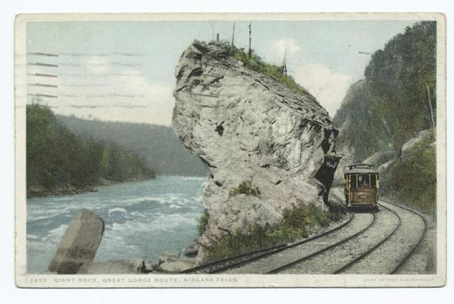 Giant Rock, Great Gorge Route, Niagara Falls, N.Y.