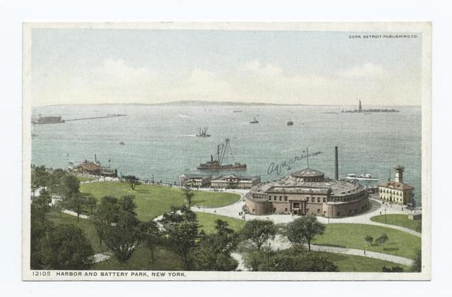 Harbor and Battery Park, New York, N. Y.